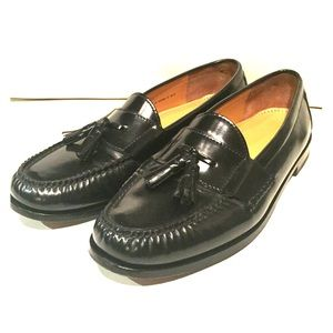 Cole Haan Shoes - Cole Haan Penny Loafers - Black Tassel Slip On